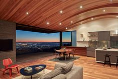Skyline House designed by Terry & Terry Architecture. Oakland California - Architecture and Home Decor - Bedroom - Bathroom - Kitchen And Living Room Interior Design Decorating Ideas - Residential Architecture, Architecture Design, Curved Wood, Wood Ceilings, Plan Design, Design Ideas, House And Home Magazine, Beautiful Homes, Indoor Outdoor