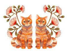 Art We Heart: Ola Liola's Gorgeous Kitty Illustrations | Catster. Lacy Twins