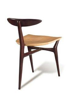 John Graz; Three-Legged Chair, 1960.