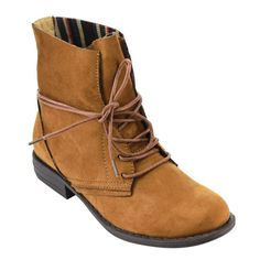 Bei FC99 Women's Lace-up Block Heel Ankle Boots