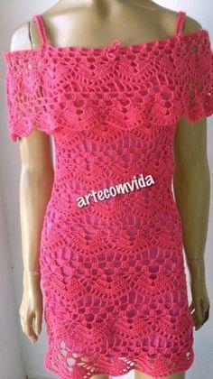 Vestido de crochê ciganinha no Elo7 | ArteComVida (978D63)