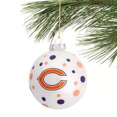 Chicago Bears Glass Ball Ornament Navy