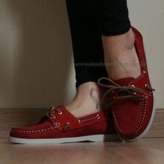 f1a23d3f70d Sapato Mocassim Dockside Feminino Conforto Drive Vermelho Couro Legítimo  Alto Luxo