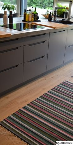 Weaving, New Homes, Kitchen Cabinets, Carpet, Crochet, Koti, Flooring, Rugs, Wall