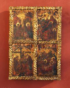 Byzantine icon with four representations Byzantine Icons, Freemasonry, Orthodox Icons, Unique Jewelry, Handmade Gifts, Painting, Vintage, Etsy, Shop