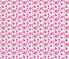buds_stripe_pink fabric by katarina on Spoonflower - custom fabric