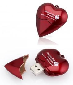 Metallic Heart USB