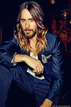 Jared Leto, Flaunt Magazine Photoshoot. I'm jealous of his ombre' and waves...