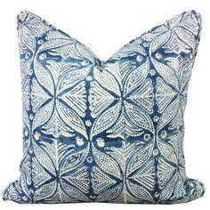 Image of Indian Block-Printed Indigo Pillow by amber interiors