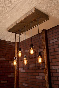 Industrial lighting Industrial Chandelier door Bornagainwoodworks