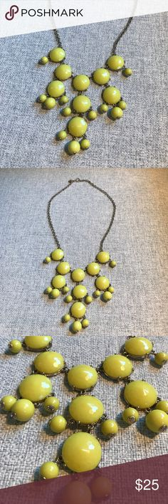 J. Crew Yellow Bubble Necklace J.Crew yellow bubble necklace in great condition! J. Crew Jewelry Necklaces