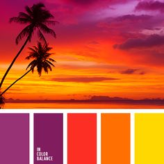 Color combination, color pallets, color palettes, use on flamingos Sunset Color Palette, Sunset Colors, Colour Pallette, Color Palate, Colour Schemes, Color Combos, Color Patterns, Orange Color Palettes, Gold Palette