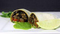 Vegan Recipes | Portobello Fajitas with Cilantro Garlic Sauce | Veganuary
