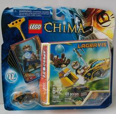 LEGO Legends of CHIMA Lion LAGRAVIS Royal Roost Speedorz Set 70108 Minifig #LEGO