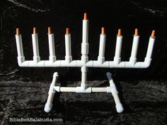 Build your own PVC Hanukkiah