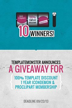 The Big Giveaway from TemplateMonster: TEN Premium Templates + Nice Added Bonus.