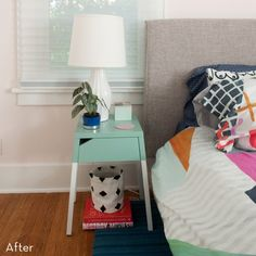 Before And After: Easy Color Pop Nightstand Ikea Hack