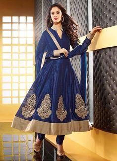 $95 Sensational Art Silk Kalidar Suit