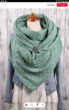 m) on … – Scarf Ideas 2020 Diy Scarf, Cowl Scarf, Recycled Fashion, Diy Sewing Projects, Neckerchiefs, Winter Accessories, Unique Dresses, Sewing Clothes, Womens Scarves