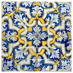 17th Century, Portuguese Tile Pattern | From a unique collection of antique and modern architectural elements at https://www.1stdibs.com/furniture/building-garden/architectural-elements/