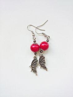 Kolczyki motylki - barbarella-br - Kolczyki długie Drop Earrings, Etsy, Jewelry, Gift, Atelier, Ear Piercings, Schmuck, Boyfriend, Jewlery