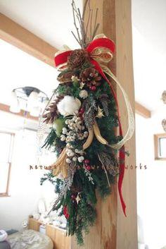 クリスマスリースよりも簡単な「クリスマススワッグ」の作り方・スワッグデザイン50選|ハンドメイド部 -page4 | Jocee