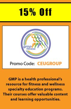 Get 15 off courses from allegra learning solutions when using register for courses at gmp fitness with promo code ceugroup and receive 15 off fandeluxe Choice Image