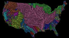 "As the election nears, our country can at times feel like a hideous and hateful place. Let this map of the United States' river basins made by Imgur user Fejetlenfej remind you that, at the very least, our country can be beautiful. Fejetlenfej—a geographer who sells their maps on Etsy—created the image using QGIS software, which is an open-source geographic information system. The map depicts both""the permanent and temporary streams and rivers,"" the creator explained. They divided the…"