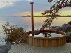 Another view of the same hot tub. It's wood fired - very cool!