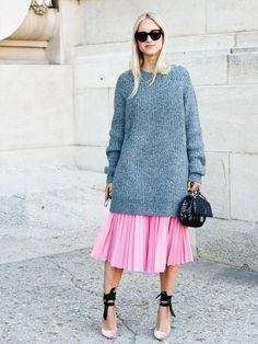 Toller Streetstyle mit Oversize-Strickpulli. Wir lieben das Outfit, aber was sagen eigentlich die Männer dazu?
