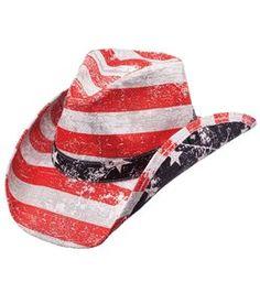 Peter Grimm Men's Patriot Drifter Cowboy Hat