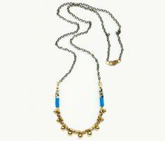 Cerulean Sequin Necklace