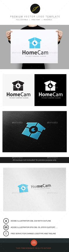 Home Cam by LayerSky Logo Template FeaturesAI and EPS (Illustrator 10 EPS )300PPI CMYK 100% Scalable Vector Files Easy to edit color / text Ready to pr