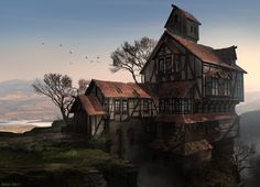 ArtStation - The Lonely Lakeview Tavern, Marco Gorlei