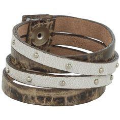 Leatherock B453 (Taupe) Bracelet ($39) ❤ liked on Polyvore featuring jewelry, bracelets, bangle cuff bracelet, cuff bracelet, leather jewelry, cuff bangle and snap button jewelry