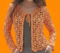 MIVA CROCHET: Bolero bufanda en tricot