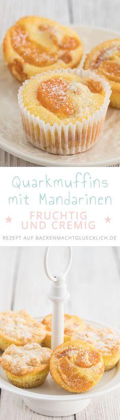 Schnelle Käsekuchenmuffins mit Mandarine. Diese fruchtigen kleinen Käsekuchen schmecken einfach immer!