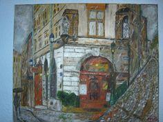 Otoño en París,  óleo