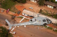 Fennec helicopter from the French Air Force deployed as part of Operation Sangaris, Central African Republic. © Air Force