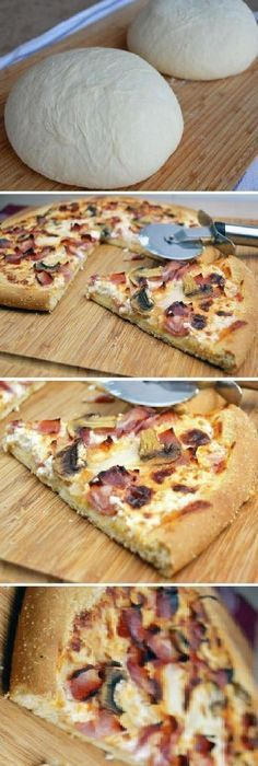 C mo hacer masa de pizza Muy f cil Si te gusta dinos HOLA y dale a Me Gusta MIREN Receitas Soberanas C mo hacer masa de pizza Muy f cil Si te gusta dinos HOLA y dale a Me Gusta MIREN Receitas nbsp hellip Pizza Recipes, Cooking Recipes, Healthy Recipes, Stromboli Recipe, Tasty, Yummy Food, Bread And Pastries, Creative Food, Easy Cooking