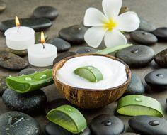 Aloe Vera Kosmetik selber machen - Rezept für selbst gemachte Aloe Vera Bodylotion mit nur 2 Zutaten - macht die Haut zart und sendet Feuchtigkeit ...