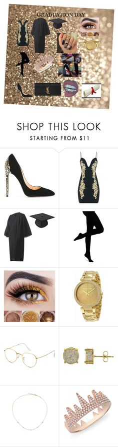 """Graduation Day👑"" by queenval26 ❤ liked on Polyvore featuring Cerasella Milano, Ambra, Michael Kors, Simply Silver, Jacquie Aiche, Anne Sisteron and Yves Saint Laurent"