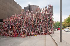 Phyllida Barlow, TIP, 2013, in the Carnegie International at the Carnegie Museum of Art, Pittsburgh.COURTESY CARNEGIE MUSEUM OF ART