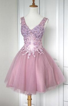 Pink Homecoming Dress,Sweetheart Homecoming Dresses,Lace Homecoming Gowns,Short Prom Gown,Blush Pink SweeT Dress