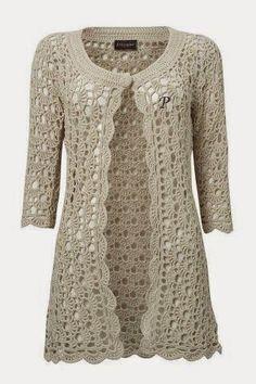 """""""Crochê da Mimi"""": 10 Modelos de Casaco e blusa de crochê com gráfico para você se aquecer neste inverno!"""