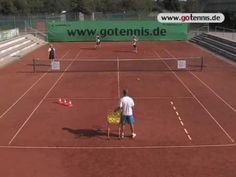 video tennis training volley techniques group drill - YouTube