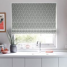 Shop Hillarys™ Made to Measure Blinds, Curtains, Shutters & Awnings! Book a FREE In-Home Design Appointment & Order Samples Today! House Blinds, Blinds For Windows, Curtains With Blinds, Green Curtains, Silver Curtains, Denim Curtains, Blue Roman Blinds, Lounge Curtains, Green Dining Room