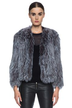 ISABEL MARANT | Aileen Fur Jacket in Grey