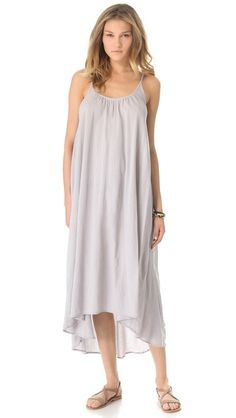 9seed Tulum Cover Up - Pebble $115.00  Color: Pebble Pebble Size: One Size Style # NSEED30000 A gauze cover-up dress is the perfect lightweight layer for a day at the beach. Semi-sheer.  Fabric: Gauze. 100% cotton. Hand wash. Made in the USA.  MEASUREMENTS Length: 48in / 122cm, from shoulder