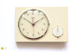 Bauhaus DIEHL Wall Kitchen Clock TIMER - Panton Space Age Modern Junghans Pop mcm 60s 70s Minimal
